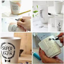 Resultado de imagen para como decorar tazas con marcadores