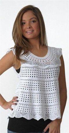 Free Crochet Pattern Crochet Sleeveless Shirts