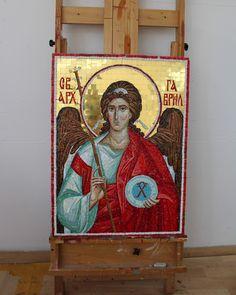 Autor Vasilisa Janojkić Archangel Gabriel, Mosaic, Painting, Author, Mosaics, Painting Art, Paintings, Painted Canvas, Drawings
