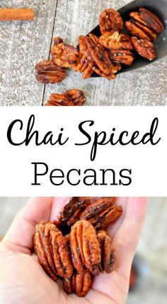 Chai spiced pecans are the perfect fall snack. Made with all your favorite chai spices, this spiced pecans recipe is a must make as the weather cools. Fun Easy Recipes, Popular Recipes, Fall Recipes, Holiday Recipes, Popular Food, Drink Recipes, Delicious Recipes, Fall Snacks, Holiday Snacks