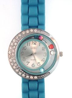 http://monetprintsgallery.com/light-blue-silicone-rubber-gel-watch-large-face-with-moving-colored-crystals-with-half-crystal-bezel-band-link-look-ceramic-style-p-17249.html