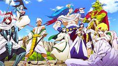 Sinbad & Ja'far & Yamraiha & Sharrkan & Masrur & Pisti & Drakon & Hinahoho & Spartos