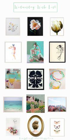 Affordable Artwork Sources | Comfy Cozy Couture Artwork Favorites | Budget Friendly Art | Home Decor |