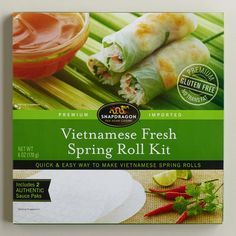 WorldMarket has Snapdragon Vietnamese Spring Roll Kit, just the wrappers and sauce, you add the innards. $2.99