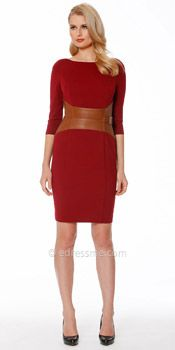 Leather corseted cocktail dress by NUE by Shani -Holiday Dresses - Holiday Office Party Style