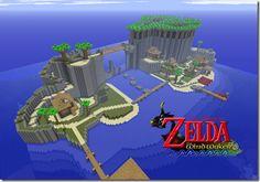 Minecraft : Zelda The Wind Waker Mod two worlds colliding! Minecraft Banner Designs, Minecraft Banners, Minecraft Blueprints, Minecraft Creations, Minecraft Stuff, Minecraft Architecture, Minecraft Buildings, Minecraft Kingdom, Zelda Birthday