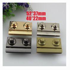 10 sets 40*22mm 52*37mm  top quality snap purse lock,golden twist lock leather bag twist lock, lock for clutch purse wholesale  ks-461 by kesterpurse on Etsy