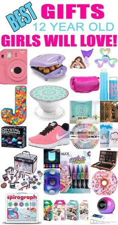 Gifts 12 Year Old Girls! Best gift ideas and suggestions for 12 yr old girls. Top presents for a girl on her twelfth birthday or Christmas! Coolest gifts for that special girl. Get the top gifts on any tween or teen girls gift list or gift guide now! Birthday Presents For Girls, Christmas Gifts For Teen Girls, Teenage Girl Gifts, Gifts For Kids, Teen Birthday Gifts, Birthday Crafts, Christmas Gifts For 12 Year Olds, Teen Girl Birthday, Girlfriend Birthday