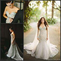 Wholesale Chiffon Wedding Dresses - Buy -2014new Sweetheart Lace Beads Dequins Tassel Crystal Pleat Pearls Tulle Zipper Sweep Trian Wedding/Bridal Dress/Dresses, $199.65   DHgate