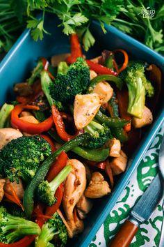 Honey-Garlic Chicken and Broccoli