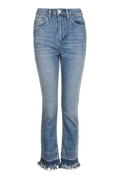 MOTO Fringe And Let Down Hem Straight Leg Jeans - New In This Week - New In - Topshop Europe