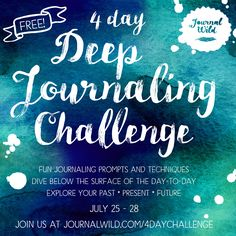 Want to dive deep in your journal and learn powerful prompts to explore who you really are? Join me in the free 4 day journaling challenge!