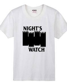 Game of Thrones night's watch t shirt for men short sleeve-