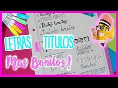 COMO HACER TÍTULOS BONITOS Y PERFECTOS - MEJORAR LETRA - APUNTES BONITOS - Kelly - YouTube