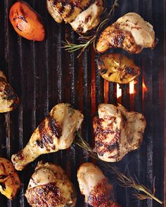 Grilled Buttermilk Chicken. Soak overnight in buttermilk and herbs..sounds worth trying!