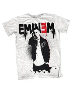 Eminem Sprayed Up Mens T-Shirt - Guaranteed Authentic.  Fast Shipping