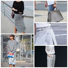 Working on our Style moodboard for inspiration on how to work grey-toned pieces. ⠀streetstyle,workit,fashionlovers,moodboard,grey,fashionmoodbord,stylestar,pinterest,styletips,thefifthcollection,collages,greytones,fashioncollage,stylenotes,werkwerkwerk