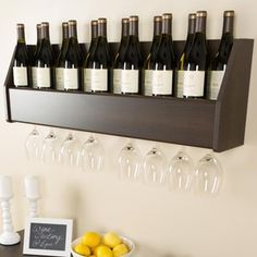 Wine storage ideas for wall
