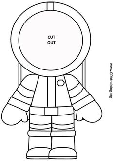 Astronaut Photo Craft - 123 Play-and-Learn! Child Care Basics ... #childcareideas