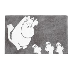 Finlayson Moomintroll Bath Mat Step out of the shower and start your day with fun. The Finlayson Moomintroll Bath Mat is perfect for the kids' bathroom or anyone who adores Tove Jansson's characters. On this plush and absorbent Moomin Shop, Kids Book Series, Moomin Valley, Fuzzy Felt, Tove Jansson, Interiors Online, Bathroom Rugs, Bathrooms, Little My