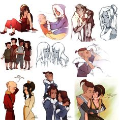 ATLA/LoK Tumblrdump 2 by GrisselleR on deviantART..... who's Asami with, that doesn't look like Mako but who else would it be?