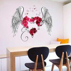 Prezzi e Sconti: #Heart wings removable pvc living room wall  ad Euro 5.72 in #Accessories #Moda