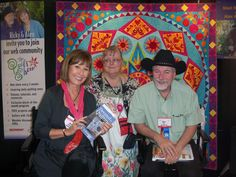 Alex Anderson showing off my book with me and Ricky Tims at the Houston Quilt Show