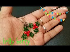 Opal Stud Earrings, Opal Lotus Flower Jewelry, October Birthstone Jewelry, Raw Fire Opal and Silver Flower Jewelry, Uncut Gemstone Studs - Fine Jewelry Ideas Seed Bead Bracelets Diy, Seed Bead Necklace, Seed Bead Jewelry, Seed Beads, Beaded Jewelry, Bead Earrings, Beaded Bead, Perler Beads, Leather Bracelets