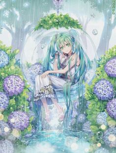Find images and videos about vocaloid, miku and hatsune on We Heart It - the app to get lost in what you love. 5 Anime, Chica Anime Manga, Anime Angel, Manga Girl, Anime Chibi, Vocaloid, Anime Girl Drawings, Anime Artwork, Kawaii Anime Girl