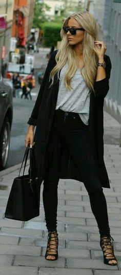Black duster/jacket