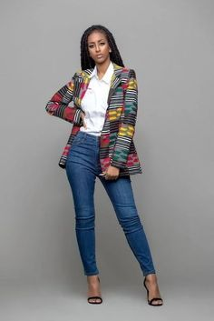 New 2018 Sexy Indie Folk Womens Casual Coat Dashiki African Printed Single Button Slim Jacket Coat High Quality New 2018 Sexy Indie Folk Womens Casual Coat Dashiki African Printed Si – rodewe African Fashion Designers, African Print Fashion, Africa Fashion, Modern African Fashion, African Print Dresses, African Fashion Dresses, African Dress, African Prints, Fashion Kids