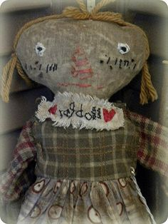 Very Primitive Doll, Primitive Doll, Primitive Folk Art, Folk Art Doll, Old Rag Doll, Cloth Rag Doll, Rag Doll, Antique Rag Doll, Antique