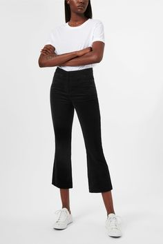 <p>The Eve Trousers are a pair of fine trousers with a lux velvet finish. A graphic thistle print adds a discreet charm to these slim trousers with a regula
