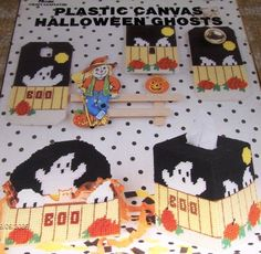 Halloween Ghosts Plastic Pattern Tissue Cover, Box, Door Knob Covers, light switch cover