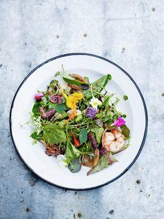 Asian seafood salad with yuzu & sesame dressing