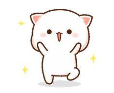 Cat Anime, Cute Anime Cat, Cute Bunny Cartoon, Cute Kawaii Animals, Cute Cartoon Pictures, Cute Love Pictures, Cute Love Cartoons, Cute Cat Gif, Cute Cats