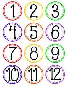 FREEBIE - Hanging Fan Labels for Tables, Centers, or Stations with Number Circles