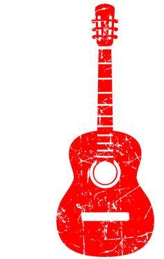 Guitar Guitarist Music Instrument USA Flag Pride Tshirt