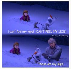 "Kristoff & Olaf - Frozen - Disney - LOL - ""I can't feel my leg! Disney Love, Disney Magic, Disney Frozen, Olaf Frozen, Frozen 2013, Disney Stuff, Disney And Dreamworks, Disney Pixar, Disney Nerd"
