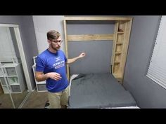 DIY Murphy Bed without expensive hardware! - YouTube
