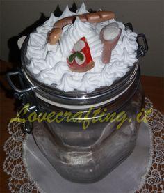 Barattolo con miniature in fimo- Lovecrafting.it