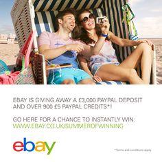 eBay Summer of Winning Sweepstakes
