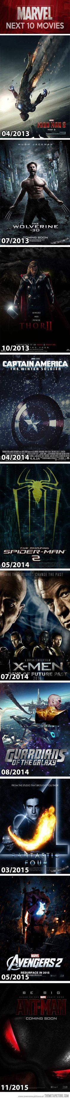 Infographie – Les 10 prochains films Marvel