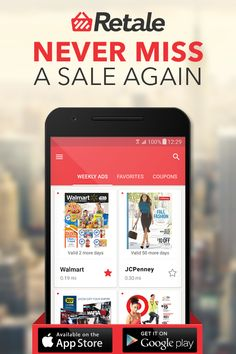 Retale gives shoppers everything they need to locate deals and current offers near them and successfully complete a local shopping trip. In addition to grocery stores like Save-a-Lot, Food Lion and Giant, you can also find information and weekly ads for home improvement stores such as Menards and Ace Hardware, and for pharmacies like Rite Aid & CVS. Download the app today!