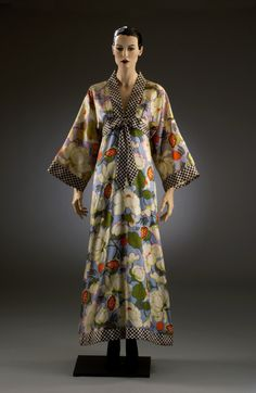 1971 Japanese style a-line dress, designed by John Bates made this for Jean…