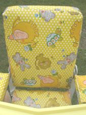 Strolee high chair. Vintage High Chairs, Baby Fabric, Baby Gear, Vintage Antiques, Chrome, Memories, Classic, Pattern, Color