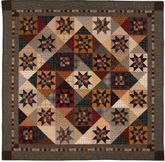 16 patch star, hourglass alternate blocks, plaids