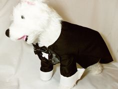 RockinDogs SM Custom Dog Wedding Tuxedo Tails Black by RockinDogs, $99.99 Wedding Tuxedos, Tuxedo Wedding, Dog Wedding, Dream Wedding, Tuxedo With Tails, Trending Outfits, Animals, Vintage, Black