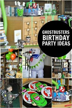 Remember the Ghostbusters movie? This boyÂ's Ghostbusters Birthday Party is oozing with creativity: paranormal creatures, slime, and even ghost inspired treats! Ghostbusters Birthday Party, Halloween Birthday, Ghostbusters Movie, 6th Birthday Parties, Boy Birthday, Aniversario Star Wars, Diy Party, Party Ideas, Gift Ideas