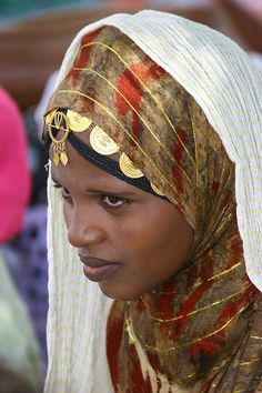 Africa |  Portrait of a woman from Eritrea